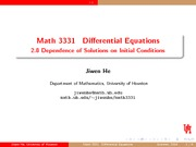 Dependence of Solutions on Initial Conditions Review