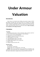Under Armor Valuation