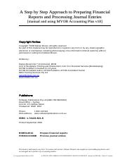 Sample of 821-8 Preparing Financial Reports and Processing Journal Entries - manual and MYOB v18  9