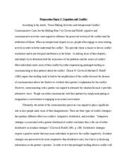 Prep Paper- Cognition and Conflict