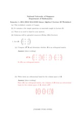 Lecture 20 Worksheet Solution