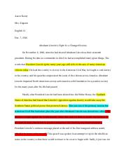 Abraham Lincoln research paper.docx
