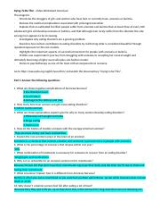 Dying To Be Thin Video Worksheet Docx Dying To Be Thin Video Worksheet Overview The Program Chronicles The Struggles Of Girls And Women Who Have Course Hero
