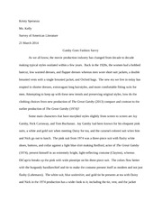 The Great Gatsby Comparison Paper Survey of American Literature