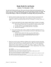 lab exam study guide