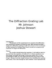 The Diffraction Grating Lab