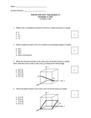 MSE101- QUIZ 3 solutions