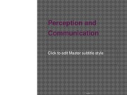 SPC 200 Ch.3 Perception and Communication