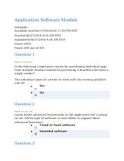 Application Software Module Quiz - Completed.docx