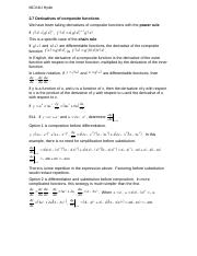 2.7 Derivatives of composite functions.doc