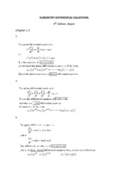 ELEMENTRY DIFFERENTIAL EQUATIONS 1.3