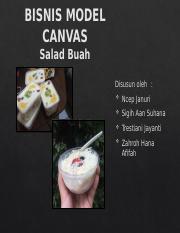 Tugas Bmc Pptx Bisnis Model Canvas Salad Buah Disusun Oleh Ncep Januri Sigih Aan Suhana Trestiani Jayanti Zahroh Hana Afifah Makanan Merupakan Salah Course Hero