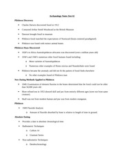 Archaeology Notes Test 2