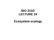Lecture 24 ecosystem, conservation ecology posted[1]