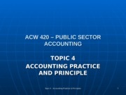 ACW 420 - TOPIC 4