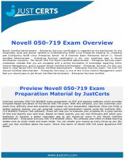 050-719 Dumps | Novell Certified Administrator - Enterprise Services Exam