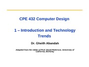 CPE432 - 1 - Intro and Tech Trends