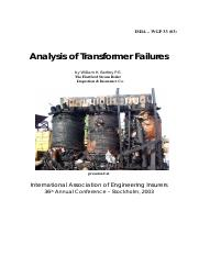 Analysis of Transformer Failures