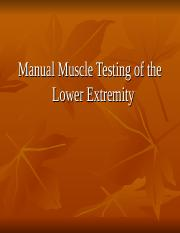 Manual Muscle Testing LE.ppt