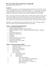 BUS 161A(03) Study Guide for Mid-term 1, Spring 2016