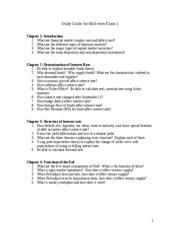 FRL315_Study Guide for Mid-term 1_STUDENT COPY