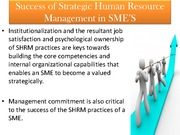 Strategic Human Resource Management (Presentation)