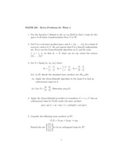 Extra Problems for Week 6 - MATH 235 - Fall 2014
