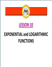 Math12-1_Lesson 10_Exponential and Logarithmic Functions