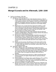 12 - Mongol Eurasia and Its Aftermath, 1200 - 1500