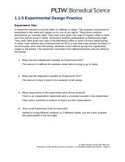 1.1.5 Experimental Design Practice Worksheet