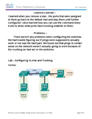 cantu3.2.2.5 Lab - Configuring VLANs and Trunking