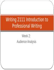 Week 2 Writing 2111 Introduction to Professional Writing _David Barrick_.pptx