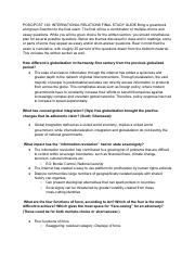 Final study guide International Relations pdf - POSC/PCST