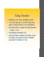 Chap 9..Eating Disorders