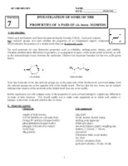Lab 7 cis trans isomers