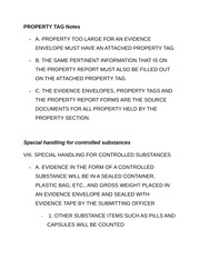 PROPERTY TAG Notes