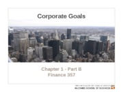 Chapter 1 - Part B. Corporate goals