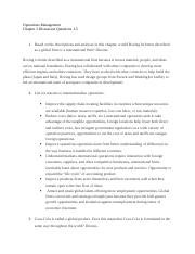 Operations Mgt. Chapter 2 Discussion Questions 1-5