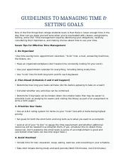 GUIDELINES TO FOR GOALS AND TIME MANAGEMENT - Copy - Copy - Copy.docx