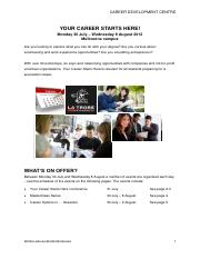 Your Career Starts Here Program 2012