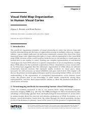 Visual Field Map Organization in Human Visual Cortex