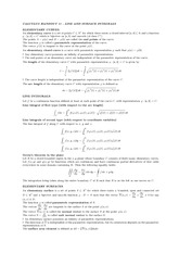 Handout 11 on Line and Surface INtegrals