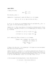 Homework 5 Solution Fall 2013 on Real Analysis