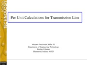 L#9 Per Unit Calculations for Transmission Line