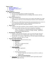 International Law-Midterm Study Guide
