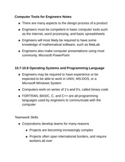 Computer Tools for Engineers Notes