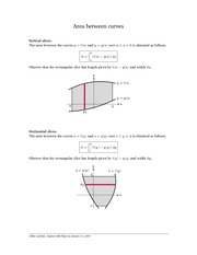 MATH 3202 Area Between Curves Notes