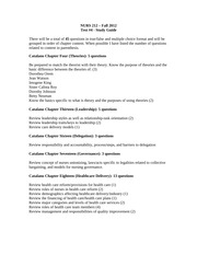 Test#4 Study Guide Fall 2012