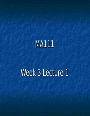 MA111Wk3Lect3.ppt