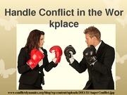 Handle Conflict in the Workplace